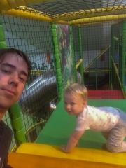 Matthias und Georg im Lolly-Park